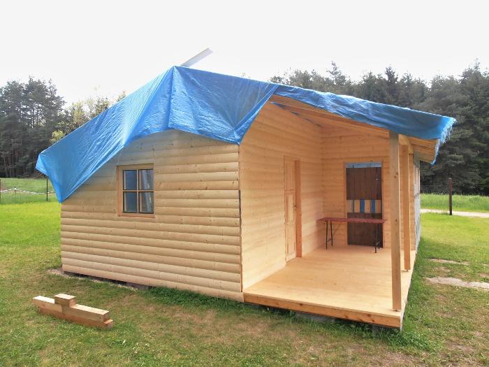 Montáž dřevěné chaty