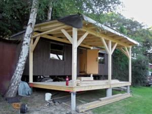 Dřevěná veranda 10 x 3 m k maringotce - Prachatice  4