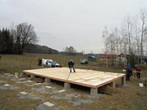 Dřevostavba 8 x 5 m s terasou  1