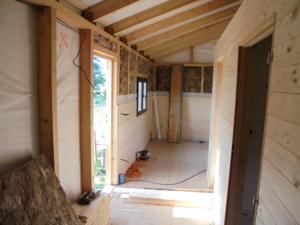 Dřevostavba 8 x 5 m s terasou  12