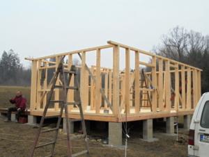 Dřevostavba 8 x 5 m s terasou  2