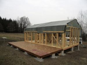 Dřevostavba 8 x 5 m s terasou  3