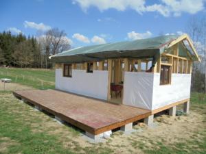 Dřevostavba 8 x 5 m s terasou  5
